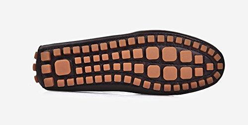 Santimon-Hombres Cómodo Cuero Genuino Zapato De Conducción Horsebit Mocasines Mocasín Doug Zapatos Blanco