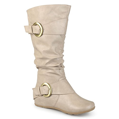 Womens Wide High Slouch Calf Patent Buckle Journee Boots Extra Collection Knee Stone 1qUw6xTAn