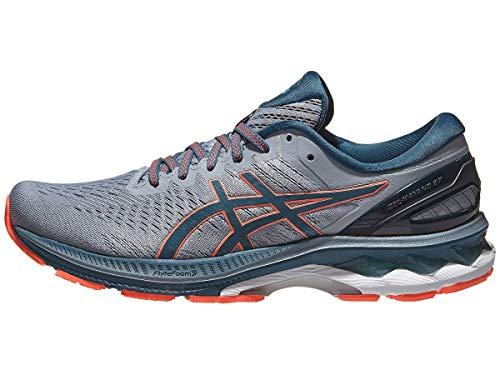 ASICS Men's Gel-Kayano 27 Running Shoes, 11.5M, Sheet Rock/Magnetic Blue