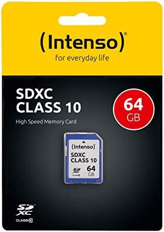 Intenso Sdxc 64gb Class 10 Speicherkarte Blau Computer Zubehör