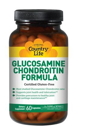 Country Life Glucosamine Chondroitin Formula,  Capsules,  30-Count