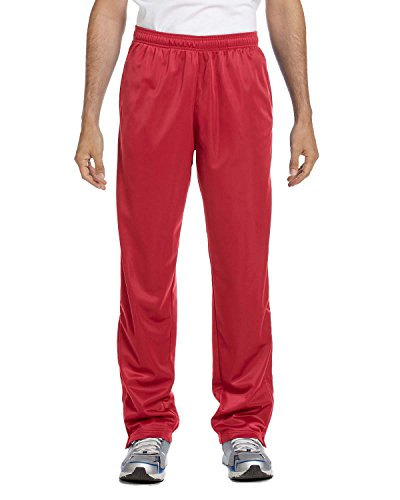 Harriton Men's Tricot Track Pants, Small, Red (Harriton Mens Tricot Track)