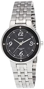 CASIO 19732 LTP-1318D-1AV - Reloj Señora cuarzo brazalete metálico dial negro