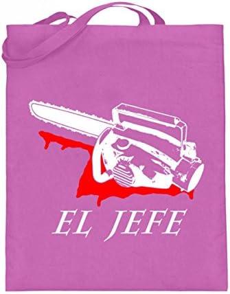 Hochwertiger Jutebeutel (mit langen Henkeln) - El Jefe - Evil Dead