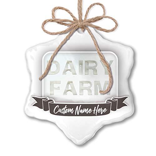 r Ornament Dairy Farm Milk Dairy Personalized ()