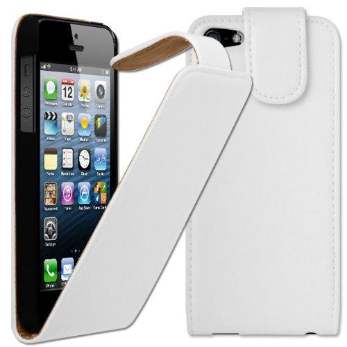 Cadre Flexi Orbyx Étui à rabat pour iPhone 5S Blanc