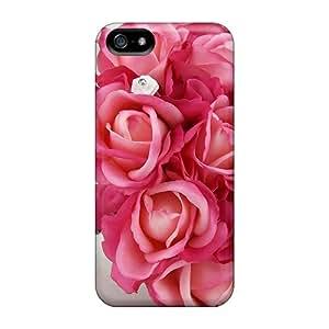 Charming YaYa Fresh Roses Bouquet Durable Iphone 5/5s Tpu Flexible Soft Case