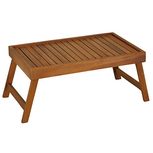 Bare Decor Coco Bed Tray Table in Solid Wood, Teak