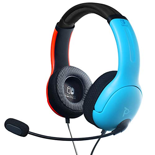 🥇 PDP 500-162-NA-BLRD Nintendo Switch LVL40 Wired Stereo Headset Joycon Blue/Red