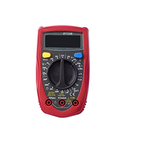 YAOGONG 33B Digital Multimeters, Portable Electronic Amp Volt Ohm Voltage Meter Multimeter with Back light LCD Display(Warranty) by YAOGONG