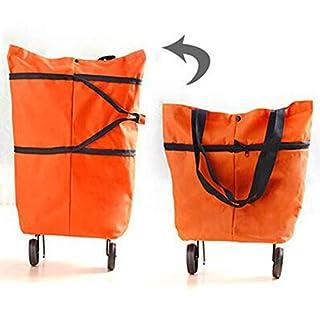 Carre Mark Foldable Wheel Trolley Shopping Bag Portable Cart Folding Home Travel Luggage Carremark