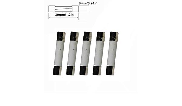 5PCS Fuse Glass Fast Acting 15A 250V 6x30mm