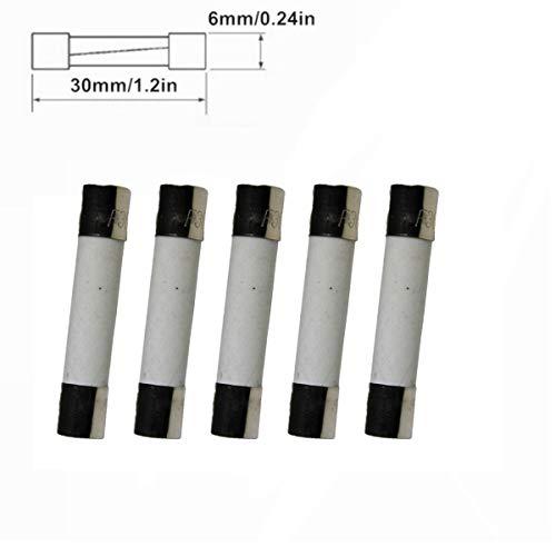 Compstudio 5Pcs/lot 250V 15A F15AL250V Fast Blow Fuse Ceramic Fuses Tubes 6mm x 30mm (1/4'' x 1-1/4'') by Compstudio