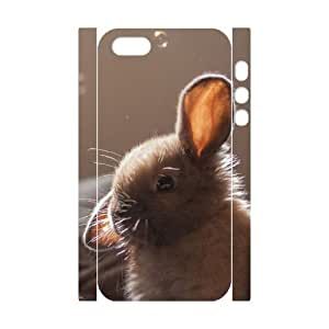 3D Pets & Animals Case For iPhone 5,5S White Nuktoe283579