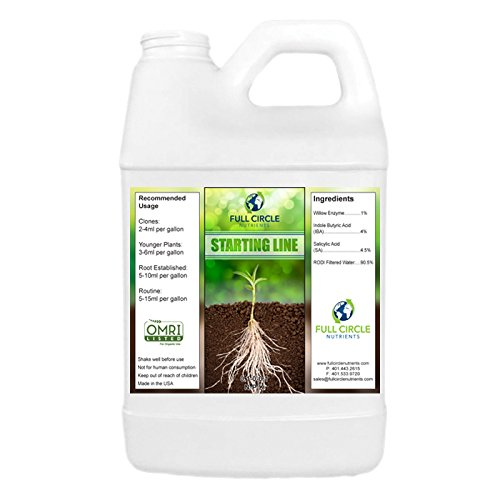 Full Circle Nutrients Starting Line Organic Professional Grade Plant Nutrients O.M.R.I. certified Plant Fertilizer (64 oz) Nutrients for Marijuna Plants Hydrponics PH stable