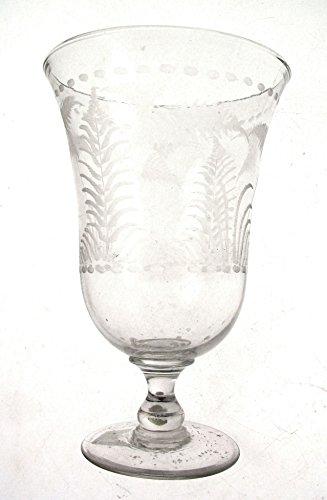 c1875 Celery Vase etched ceremonial goblet or celery vase 7.75 inch CLT115
