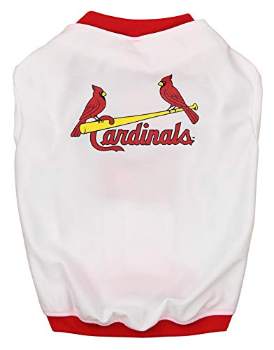 (MLB Saint Louis Cardinals Baseball Dog Jersey, Medium)