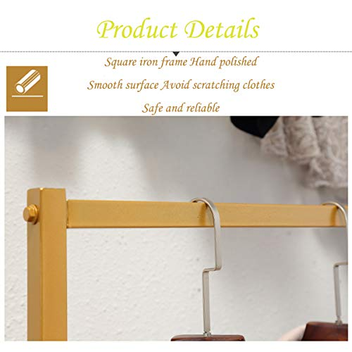 LINGYAN Mall Clothing Rack,Photo Studio Clothing Display Stand,Performance Costume Prop Display Stand,Balcony Drying Rack,Bedroom Hanger,Indoor Dry Hanger,Clothing Shelf,Metal Iron Frame (Gold) by LINGYAN (Image #2)