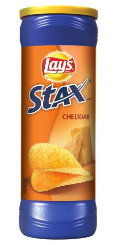 - Lay's Stax, Cheddar, 5.5 Ounce Container