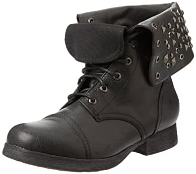 Pink & Pepper Women's Conquest Ankle Boot,Black,10 M US