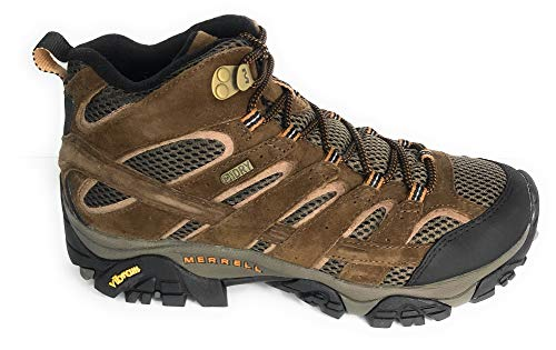 Merrell Men's Moab 2 Mid Waterproof Hiking Boot, Earth, 11 2E US (High Hill Work Boots)