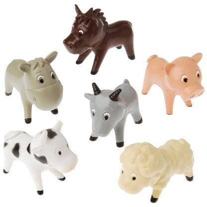 Cartoon Farm Figures Animals and Insects (12 per package) (Cartoon Figure)
