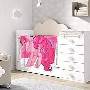 AOOEDM Baby Blanket Anime My Rainbow Pony Toddler Kids Blanket Super Soft Baby Blankets Cozy Crib Lightweight Comforter…