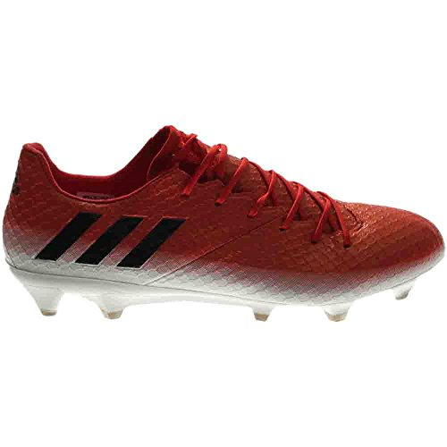 adidas Mens Messi 16.1 Firm Ground Soccer Cleats Red, Black, White