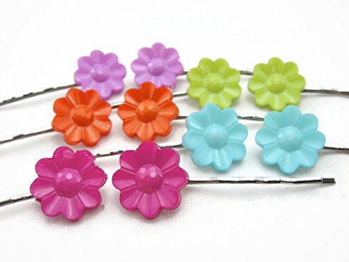Hair Clip Bobby Pin Girl Children Accessories Button Flower