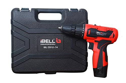 iBELL Cordless Drill Driver CD12-74, 12-Volts, 2 Battery+BMC Box 3