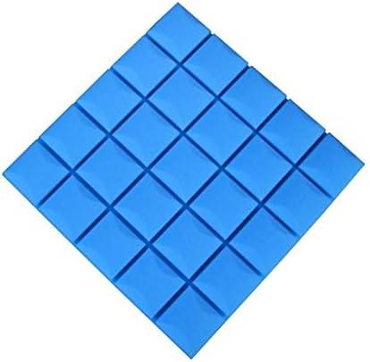 屋内音響パネル、防火高密度スクエア多機能レコーディングスタジオオフィス吸音綿10PCS (Color : Blue)
