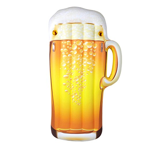 """Jet Creations JETSUP Fun-BEER1 Inflatable Happy Hour Beer Mug Pool Float, Size 72"""" Tall- Party Supplies, Favors, Gifts, Floats, Lounger -"""