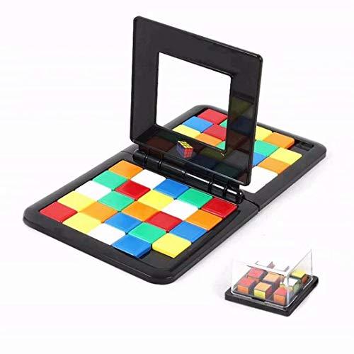 LOSOUL Magic Blocks Game Cube Race University Desktop Game Colorful Race Board Desktop Game Toy for Children Educational Family Interaction