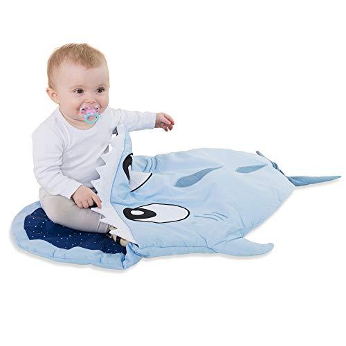 Saco de dormir de algodon para ninos para ninas y ninos - saco de invierno de tiburon pez y silla de paseo para ninos pequenos