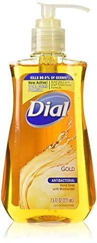 Dial Antibacterial Liquid Hand Soap, Gold, 7.5 Ounce (Dial Bar Gold)