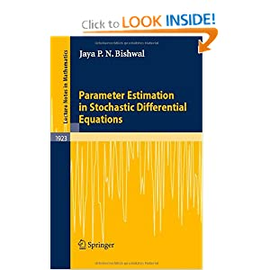 Parameter Estimation in Stochastic Differential Equations Jaya P. N. Bishwal