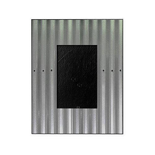 CafePress - Tin Industrial Metal Shower Curtain - Decorative 8x10 Picture (Photo Tin)
