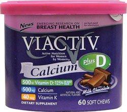 Viactiv - Calcium Plus D (chocolat au lait) 60 à mâcher par Viactiv -