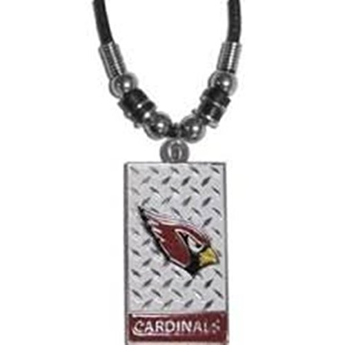NFL Officially Licensed Gridiron Diamond Plate Rope Necklace (Arizona Cardinals)