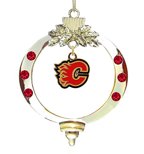 Calgary Flames Christmas Ornament, Christmas Flames