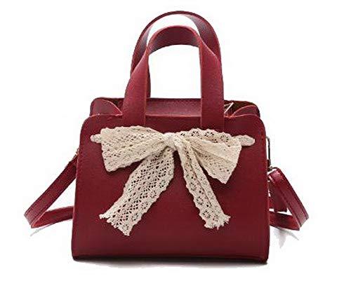 AllhqFashion Donna cerniere Borse a tracolla Moda Vacanze Borse a tracolla, FBUIBC182057, Nero Rosso
