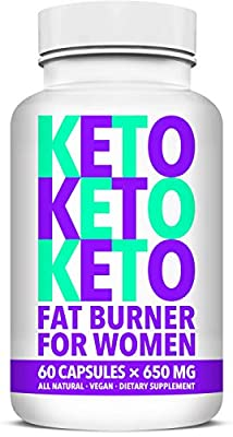 Fat Burner for Women with Raspberry Ketones and Pure Garcinia Cambogia Extract - Keto Diet Pills for Weight Loss - Advanced Metabolism Booster and Carb Blocker - for Women - 60 Capsules