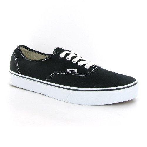 Vans Authentic Black Canvas Mens Trainers Size 11 US
