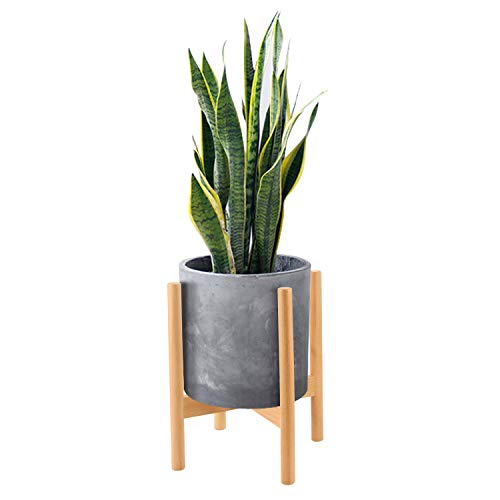 Mid Century Wood Plant Stand Holder for Planters Up to 10 Inch, Indoor Flower Pot Potted Planter Rack Caddy Trivet (Pot and Plant Excluded), Light Wood ()
