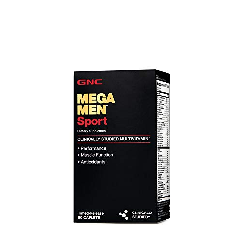 GNC Mega Men Sport Multivitamin for Men, 90 Count, for Performance, Muscle Function, and General Health ()