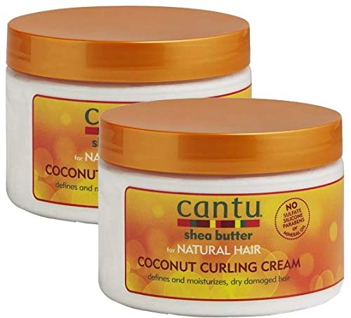 Cantu Shea Butter for Natural Hair Coconut Curling Cream 12 oz. (Pack of 2)