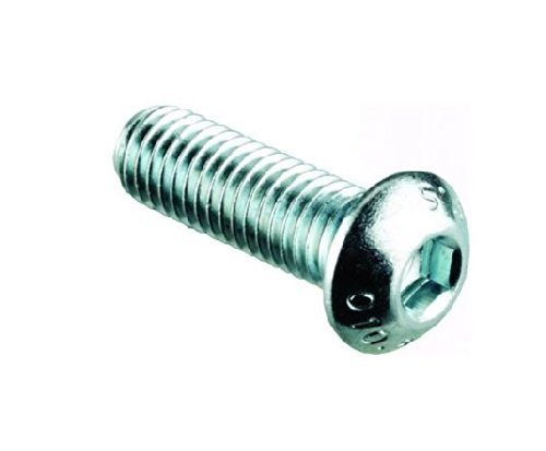 STAINLESS BUTTON HEAD SOCKET SCREW DOME HEAD M6 X 16 PK 10