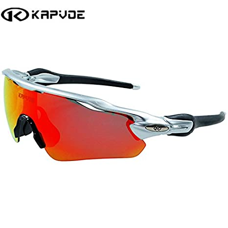cd739ecf67 K067013   Kapvoe Men Sport Sunglasses Cycling Glasses Bicycle Bike Fishing  Driving Sun Glasses Wholesale Glasses for Man Women Sunglasses  Amazon.in   Home   ...