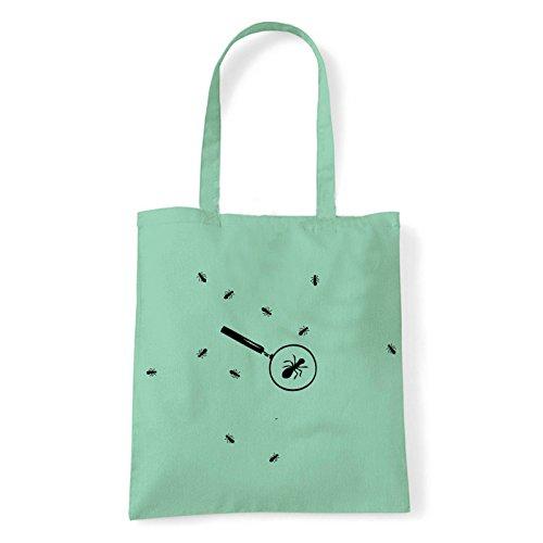 Art T-shirt formiche-bag - Bolso al hombro de Algodón para mujer Menta