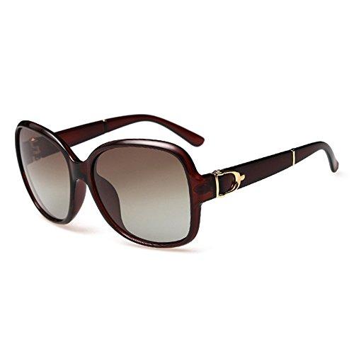 CHB women's polarized wayfarer sunglasses retro square oversized sunglasses UV400 (tea frame, As images - Wayfarer Images Sunglasses